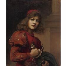 Joan of Arc Paul de la Boulaye Portrait Maid of Orleans 5x5 Inch Print