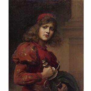 Joan of Arc Paul de la Boulaye Portrait Maid of Orleans 5x4 Inch Print