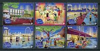 Singapore 2018 MNH Evenings 6v Set Cultures Architecture Skyscrapers Stamps