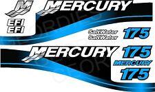 BLUE MERCURIO 175 fuoribordo 4 tempi motore Adesivi Decalcomania KIT MOTORE