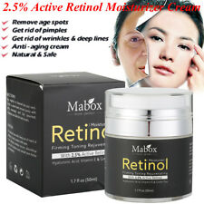 Mabox Retinol 2.5% Moisturizer Cream- Face and Eye area w/Vitamin E, Green Tea