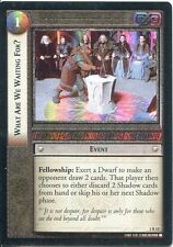 Lord Of The Rings CCG Foil Card MoM 2.R15 What Are We Waiting For
