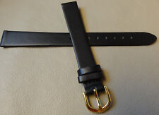 Womens Timex Black Padded Genuine Calfskin Leather 14mm EXTRA LONG Watch Band