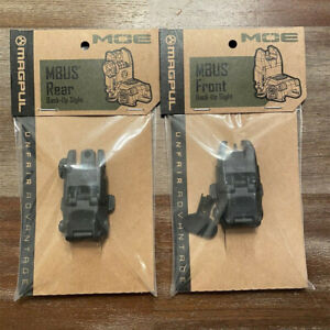 Magpul Mbus Gen2 Front and Rear Flip Sights-black Mag247blk Mag248blk