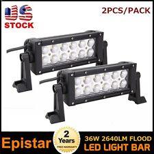 2PCS 36W LED FLOOD LIGHT BAR OFFROAD LAMP 4X4 SUV JEEP UTB DRIVING PARTS SCREWS