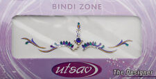 Bindi violet dore bijoux de peau mariage autoadhesif strass front sourcils 2598