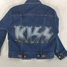 Vintage Wrangler 1970s KISS Airbrushed Denim Jean Jacket Child 8