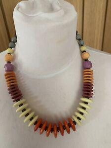 Women's Costume jewellery Funky Retro necklace, boho, festival hippie!