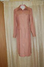 Carolina Herrera  Dress Size 8 Peach Silk Bottom Down Long Sleeves Made in Italy