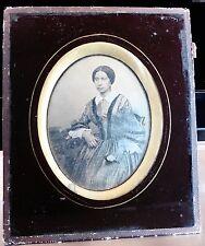 DAGUERREOTYPE 1855 1/4 PHOTO JEUNE FEMME nommée PREVOT 19 ANS 1/2 P121
