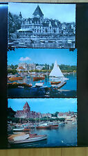 3 Ouchy-Lausanne Swiss Postcards c1957-60's Port & Hotel Le Chateau