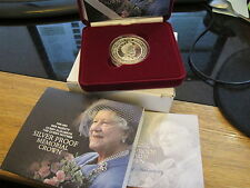 2002 reine mère memorial argent preuve £ 5 crown-coffret/coa/extérieur