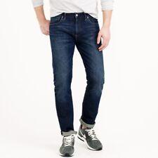 J Crew Jeans 36x32 Blue Dark Mens 484 Straight Fit Cotton 38555 Worn Wash Size