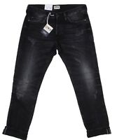 Edwin ED 75 Black HR9 Mid Rise Tapered White Listed Selvage Denim Mens Jeans L32