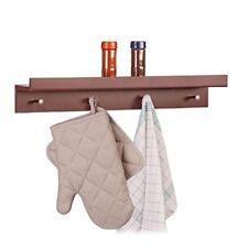 Relaxdays Patère Porte-manteau Portemanteau avec 4 Crochets & Étagère Barre...
