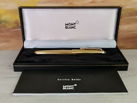 MONTBLANC Meisterstuck Solitaire Gold Plated 144 Fountain Pen, NOS!
