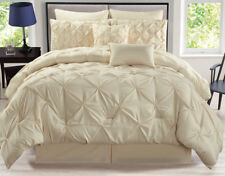 8 Piece Rochelle Pinched Pleat Comforter Set