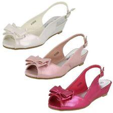 Sandales blanches en synthétique pour fille de 2 à 16 ans