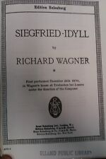 Richard Wagner : Siegfried Idyll  : Pocket Music Score