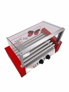 NEW COMMERCIAL STAINLESS STEEL HOT DOG BROILER (7 ROLLERS) SAUSAGES MACHINE