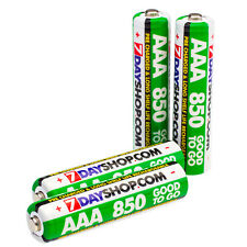 4x AAA HR03 pronto a partire PRECHARGED BATTERIE RICARICABILI 850 mAh NiMH