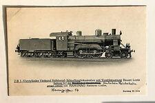24696 AK 2 B Naßdampf Schnellzug Lokomotive Lentz Preuß. Staatsbahn Hanomag 1905