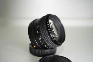 Carl Zeiss Jena Prakticar 50mm f1.4 Praktica B mount Very rare (Pancolar)