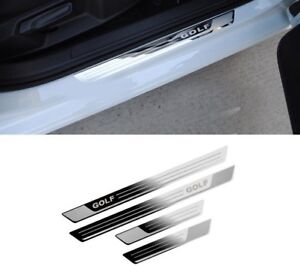 VW Golf 7 Stainless Steel Door Sill Scuff Plate Car Volkswagen Mk7 2012-2017
