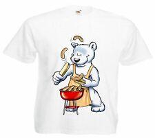 Motiv Fun T-Shirt Bär beim Grillen Moves Musik Rock Dance Hardroc Motiv Nr. 3952