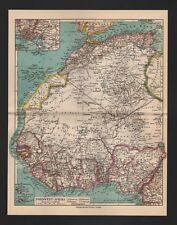 Landkarte map 1928: NORDWEST-AFRIKA. Africa Morocco Maroc Marruecos