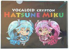 VOCALOID CRYPTON A4 clear file folder SnowMiku Sakura Miku Hatsune Miku OILYA