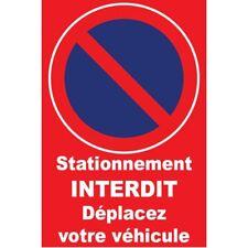 STATIONNEMENT INTERDIT PANNEAU INTERDICTION STICKER AUTOCOLLANT 15CM