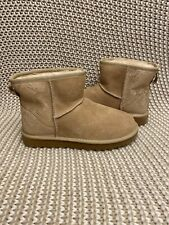 UGG Classic Mini Metallic Snake Gold Suede Boots Size US 7 Women's