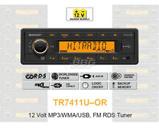 12 V voiture auto radio, rds-Tuner, mp3, wma, USB, 12 V tr7411u-or (tr7311u-or)