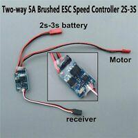 Two-way 5A Bürsten Motor ESC Speed Controller 2S-3S für RC Cars / Boats Zubehör