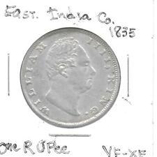 India(British) 1835(c) One Rupee Silver Coin KM-450.2 VF-XF