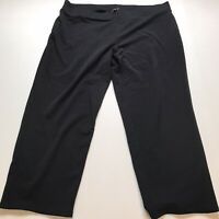 Talbots Woman Size 3XP Black Cropped Pull Pants A198