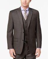 $489 Michael Kors Men'S Brown 2 Button Fit Suit Jacket Blazer Sport Coat 38 S