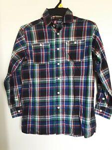 Ralph Lauren Chaps  Boys Plaid Button Down Dress Shirt Sz 10/12