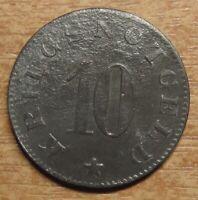 Germany Notgeld (Token) Luetzen 10 pfennig 1919