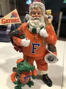 RARE VINTAGE Florida Gators Football  DANBURY MINT SANTA Christmas  FIGURE