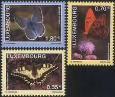 Luxembourg 2005 Butterflies/Insects/Conservation/Environment/Nature 3v (lu10151)