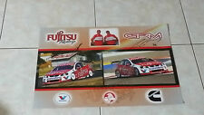 Fujitsu Racing Garry Rogers Motorsport & Jason Bright Signed Posters