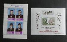 TIMBRES NIGER** 2 blocs-feuillets Y/T 3 et 12 - 1964 et 1974 (A236)
