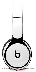 Skin for Beats Solo Pro Solids Collection White BEATS NOT INCLUDED