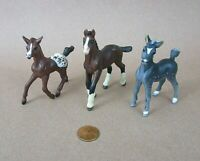 Vintage 1997-2004  Safari Ltd Horses Colt Foal PVC Figures Lot  of 3