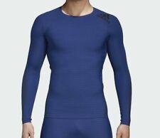 NWOT Adidas Alphaskin 360 Blue TechFit Climacool Compression Shirt Sz L