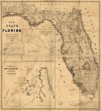 Map Of Florida Towns.Buy Florida Antique Original Antique North America Maps Atlases Ebay