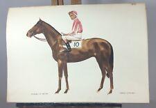 "Kevin Stack Original Watercolour Painting ""Niksar D.Keith"" Horse Racing"