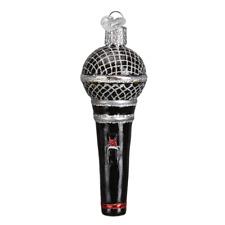 """Microphone"" (36192)X Old World Christmas Glass Ornament w/ OWC Box"